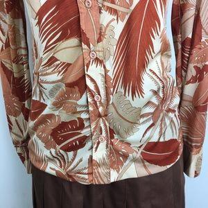 Vintage Tops - Vintage 70s Wayne Rogers Tropical Button Up